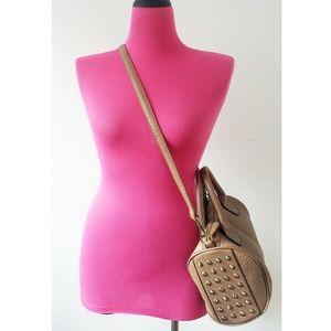 Brown Barrel Bag Adjustable Crossbody Purse